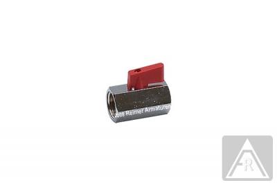 Mini- Kugelhahn aus Messing, reduzierter Durchgang, G 1/4'', PN 15, IG/IG
