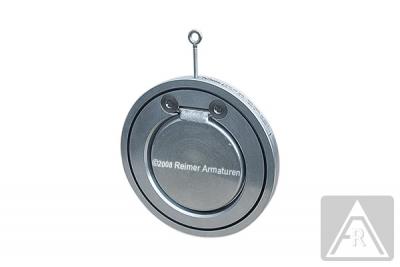 Rückschlagklappe in Zwischenflanschausführung, Gehäuse: Stahl / metallisch dichtend, DN 40, PN 16