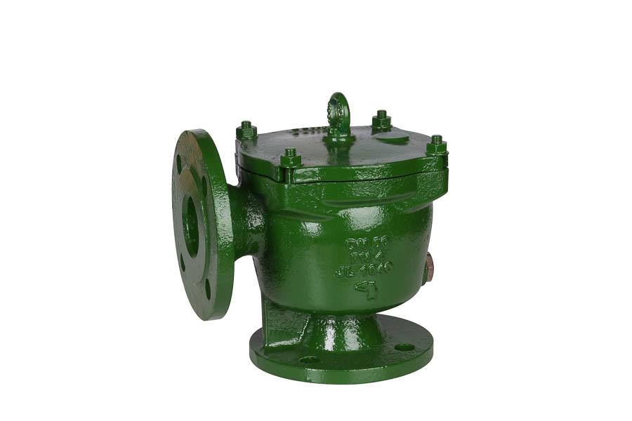 Grobfilter aus GG-25 (DIN 87151), Sieb aus nichtrostendem Stahl (Quadratlochung: 5x5 mm), DN 25, PN 4 (Flanschbohrungen nach DIN PN10) - in Eckform