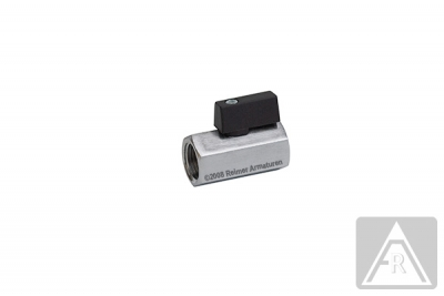 Mini- Kugelhahn aus Messing, reduzierter Durchgang, G 1/8'' bis G 1/2'', PN 10, IG/IG