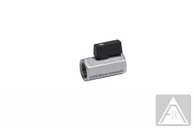 Mini- Kugelhahn aus Messing, G 1/8'' bis G 1/2'', PN 10, IG/IG