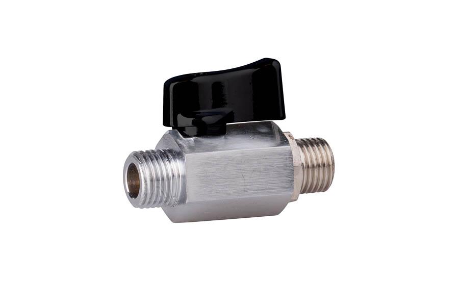 Mini- Kugelhahn aus Messing, reduzierter Durchgang, G 1/8'' bis G 1/2'', PN 10, AG/AG