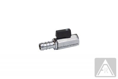 Mini- Kugelhahn aus Messing, reduzierter Durchgang, G 1/8'' bis G 1/2'', PN 10, IG//Schlauchanschluß