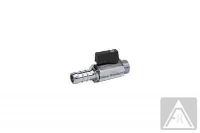 Mini- Kugelhahn aus Messing, reduzierter Durchgang, G 1/8'' bis G 1/2'', PN 10, AG//Schlauchanschluß