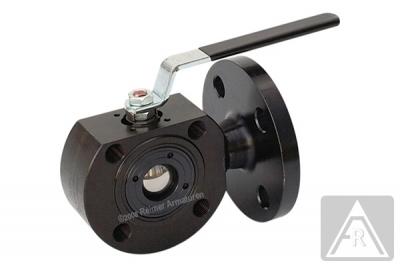 3-Wege Kompakt-Flanschkugelhahn aus Stahl, T-Bohrung, reduzierter Durchgang, DN 15 bis DN 100, PN 40/16 - Achtung: Durchflußrichtung beachten
