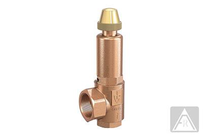 Sicherheitsventil aus Rotguß/, Dampf/ Luft/ neutrale Gase