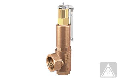 Sicherheitsventil aus Rotguß mit Anlüfthebel/, Dampf/ Luft/ neutrale Gase