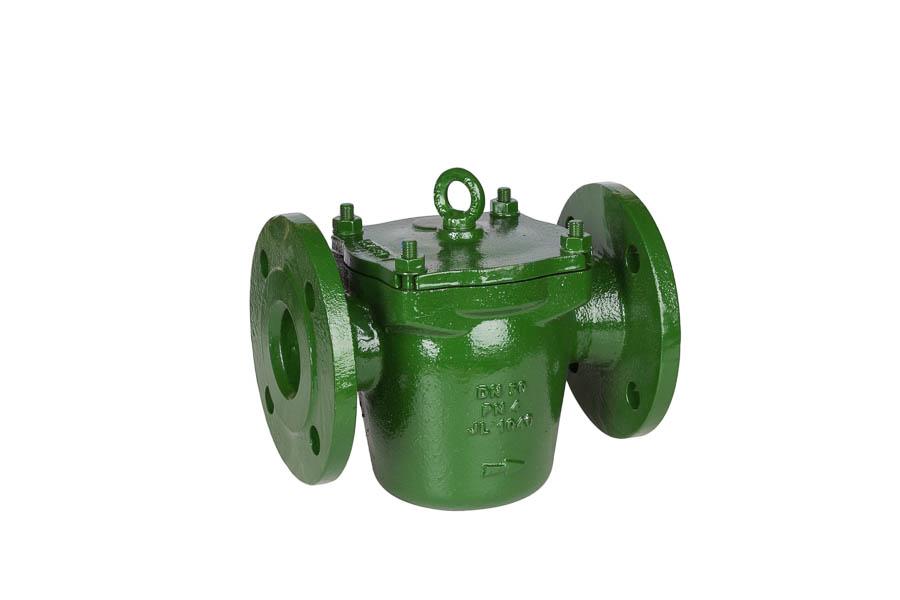 Grobfilter aus GG-25 (DIN 87151), Sieb aus nichtrostendem Stahl, DN 25 bis DN 500, PN 4 (Flanschbohrungen nach DIN PN10) - in Durchgangsform